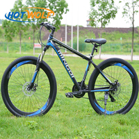 Mountain bike 27.5*2.15 inch aluminum alloy frame 24 speed bicycle dual disc brakes and variable speed road bike bikes