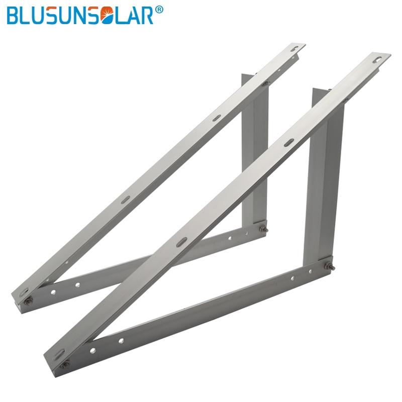 Triangle Bracket Adjustable Solar Panel Mount Mounting Rack Bracket Set Rack Folding Tilt Legs, Boat, RV, Roof Off Grid