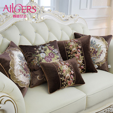 Avigers Luxury Thicken Velvet Cushion Cover Embroidery Pillow Case Home Decorative Sofa Chair Bedroom Throw