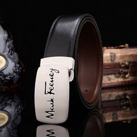 Men Belt Top Layer Cow Genuine Leather Belts For Men Luxury Strap Male Copper Smooth Buckle