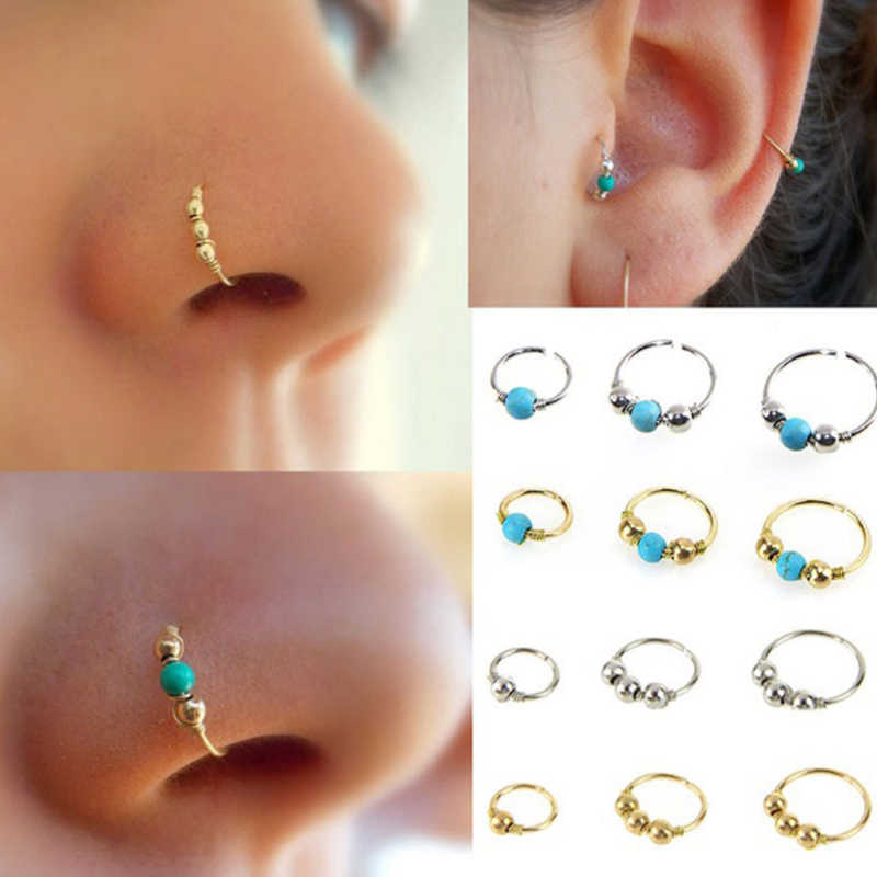 Delicate Hoop Nose Jewelry Trendy Earring Piercing 1pcs New Plated Nose Ring Sale Stainless Steel Fashion