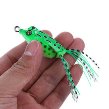 55mm/8g Fishing Frog Lures PVC Frog Lures 5 Colors Fishing Topwater Frog Lures Tackle Pesca Artificial Bait 1 piece NOEBY(China)