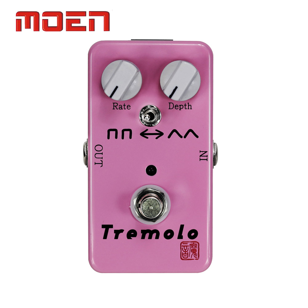 Фотография Moen AM-TR Pedal True Bypass Design Tremolo Rate Depth Control Electric Guitar Effect Pedal