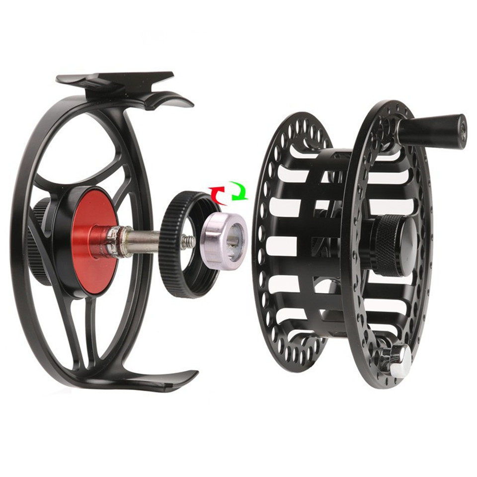 Maximumcatch MC 2-11 weight CNC Machine Cut Fly Reel Large Arbour Aluminum Black Fly Fishing Reel maximumcatch hvc 7 8 weight exclusive super light fly reel chinese cnc fly fishing reel large arbor aluminum fly reel