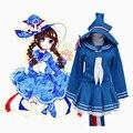 Бесплатная доставка! аниме Wadanohara и великая синее море ведьма Wadanohara косплей костюм сейлор равномерное платье новое