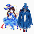 Free Shipping! Anime Wadanohara And The Great Blue Sea witch Wadanohara Cosplay Costume Sailor Uniform Dress New