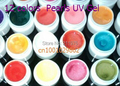 12 pcs / set Multi pearlescent nacre Pearl Color UV Builder Gel Acrylic Builder Gel Nail Art Tips Set