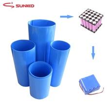 JZL 2M heat shrink tube shrinkage PVC shrinkable 18650 battery Various specifications blue sleeve insulation