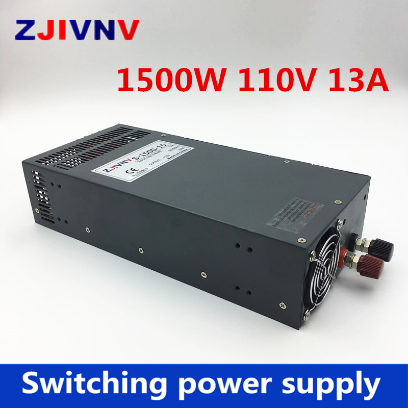 S-1500-110 Switching Power Supply 1500W 110v 13A,Single Output Parallel Ac Dc Power Supply,AC110V/220V Transformer To DC 110V 1pcs lot sh b17 50w 220v to 110v 110v to 220v