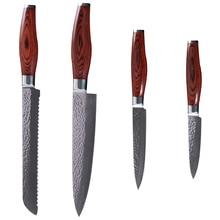 XYJ Marke Japanischen VG-10 Damaststahl Küchenmesser Set Hämmern Muster Damaskus Messer Set Beste Küche Kochen Geschenk