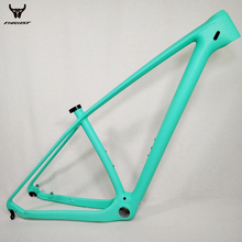 THUST Bicycle Frame Cheap Carbon Frame 29er T1000 UD China Carbon MTB Frame 29er Carbon Mountain Bikes Frame 29er 15 17 19inch cheap TRIDENT THRUST 1040g+ 20g(Size 27 5er 17inch raw frame ) MF-01 Thru Axle Matte New Arrivals T1000 UD Carbon fiber Carbon Bike Frame