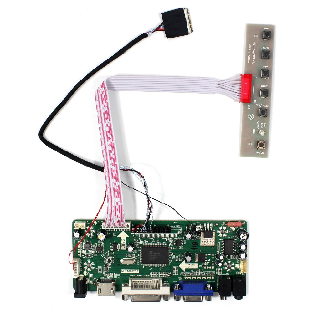 HDMI DVI VGA Auido LCD Controller Board Work For 8.9 HSD089IFW1-A00 -A01-A02 B089AW01 V1024X600 LCD Screen weiliang auido