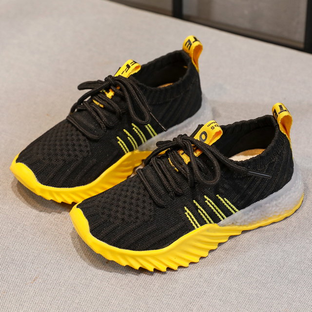 Boy Brand Children's ShoesFall Non-slip 2019 New Fashion Spring Mesh Air-permeable Leisure Sports Running ShoesGirl Sports Shoes