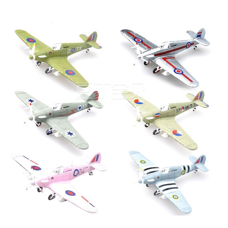 1pcs 4D World War II Fighter Model Plastic Aircraft Military Model 4D Assembly Toy Children