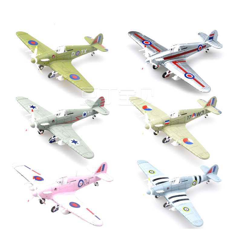 1pcs 4D World War II Fighter Model Plastic Aircraft Military Model 4D Assembly Toy Children