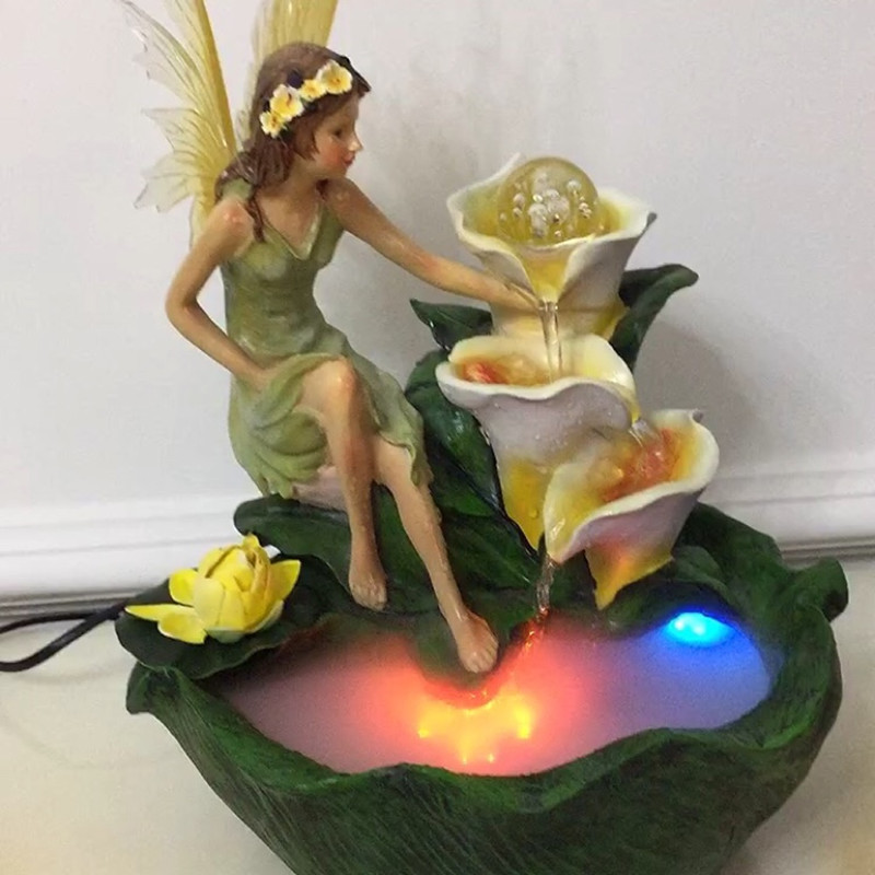 Rotating Crystal Ball Beauty Angel Water Fountain  Resin Crafts Artificial Landscape Living Room Decor Gifts L3168Rotating Crystal Ball Beauty Angel Water Fountain  Resin Crafts Artificial Landscape Living Room Decor Gifts L3168