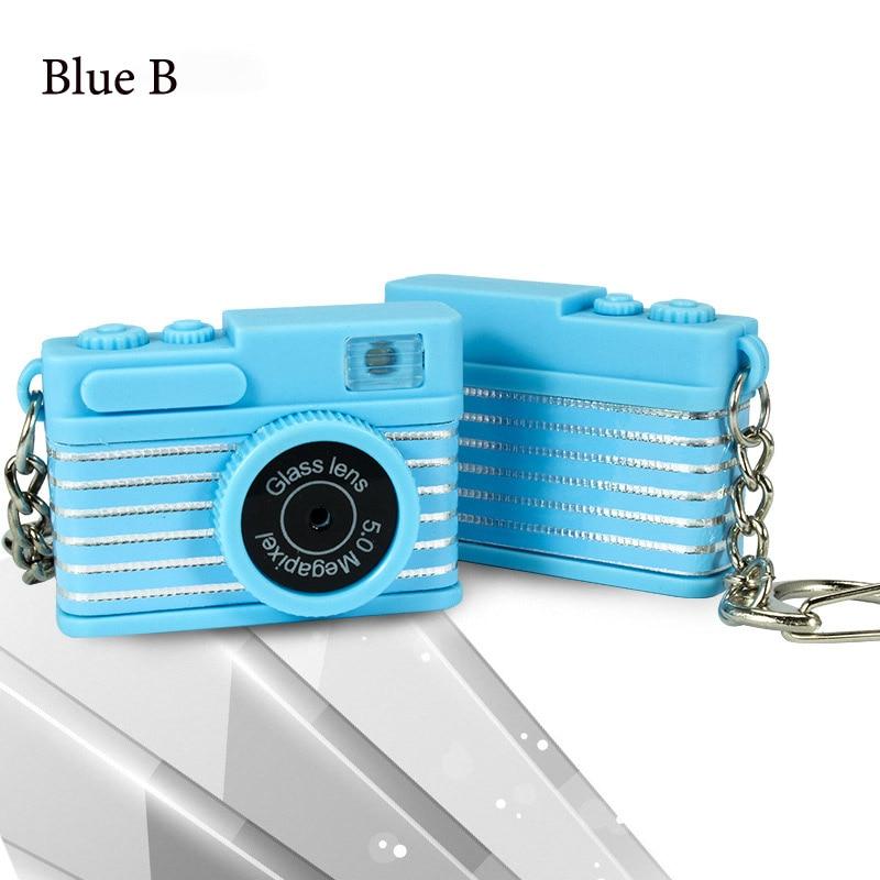 Светодиодная камера мигающая игрушка для детей цифровой брелок с камерой светящийся звук вспышка светильник Подвеска сумка Аксессуары Детская игрушка - Цвет: Blue B