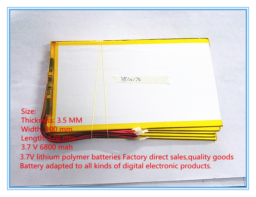 New original 10 inch tablet polymer lithium battery 3 7 V 6800 mah 35100170 large capacity