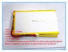 Nueva original de 10 pulgadas de la tableta de la batería de polímero de litio 3.7 V 6800 mah 35100170 de gran capacidad