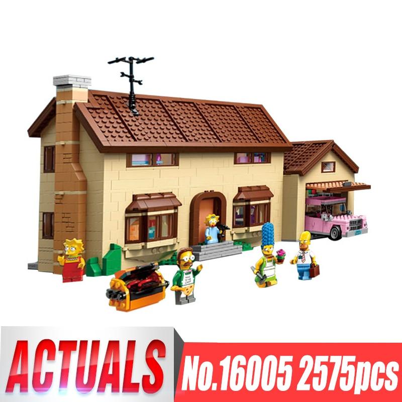 New LEPIN 16005 2575Pcs the Simpsons House Model Building Block Bricks Compatible 71006 Boy gift Bart Homer the Kwik-E-Mart акссессуар для секс игр please