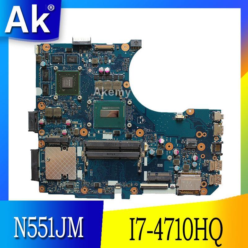 AK N551JM Laptop motherboard for ASUS N551JM G551JM N551JW N551J N551 Test Original Mainboard I7 4710HQ