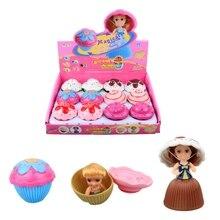 1 PC Mini Kartun Indah Cupcake Boneka Putri Berubah Lucu Yang Indah Kue  Boneka Gadis Mainan Mainan untuk Anak Acak Baru warna cfed4a9bcb