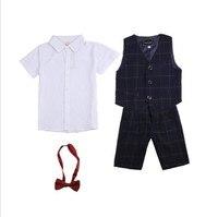 Children 4 Piece Summer Gentleman Boys Suit For 2 10Y KS 2051