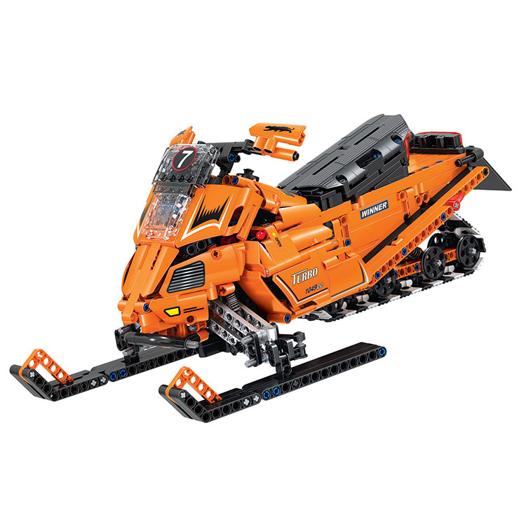 WEILE Technic City Snowmobile Model Building Blocks Sets Bricks Kids Classic Toys Gifts For Children Compatible Legoings Car тюль ambesonne молочная вышивка на ленте высота 275 см