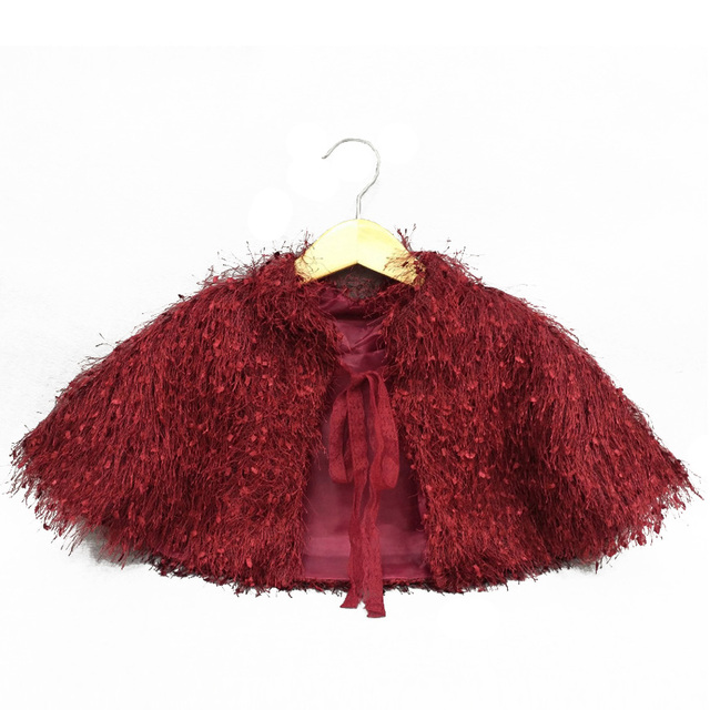 e145c9b942 2017 Children Girls Shawl Faux Fur Bolero Shrug Jacket Cloak Princess Cape  Accessories Flower Bridesmaid Wedding Dress Coat Wrap