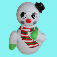 Christmas Gifts Inflatable Snowman Model Tumbler Children S Toy Game Activity Props