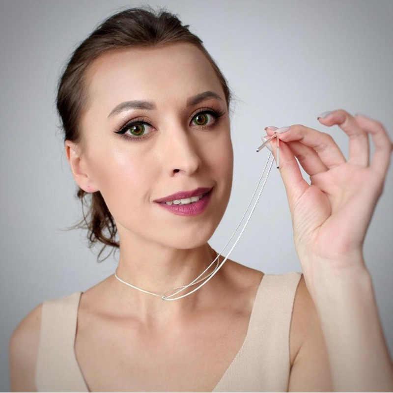 2019 moda długie naszyjniki dla kobiet złoty frędzel wisiorek naszyjnik sweter Kolye Metal modny łańcuszek ogniwowy biżuteria collier femme
