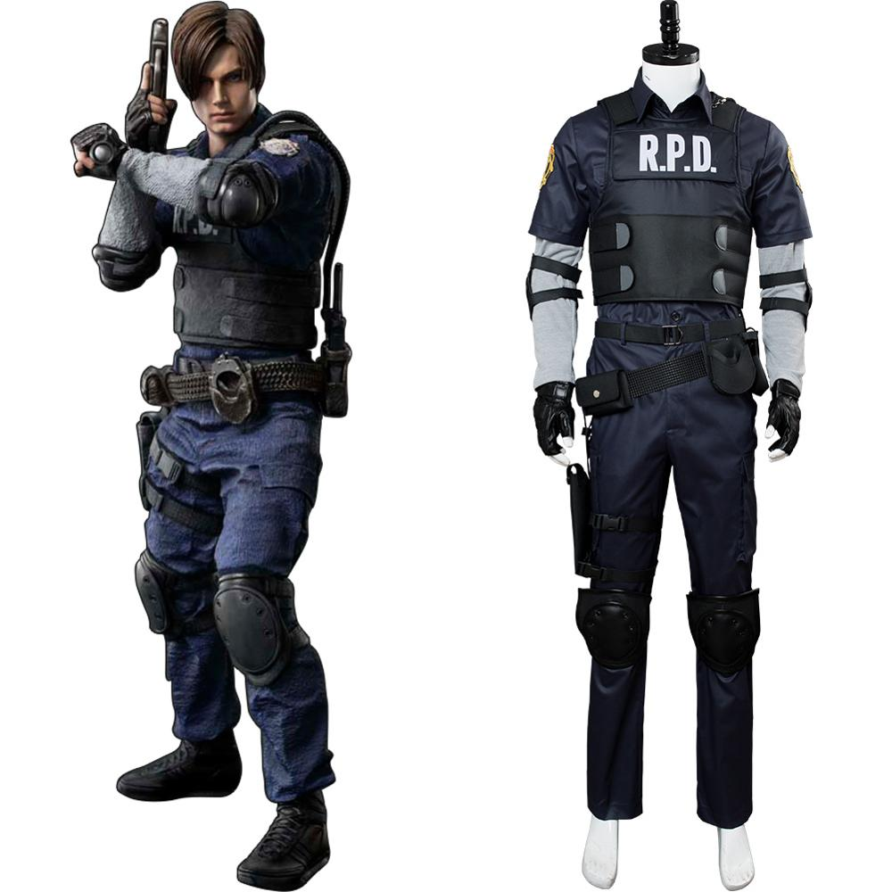 Video Game Cosplay Leon Scott Kennedy Costume Suit Jacket Clothes