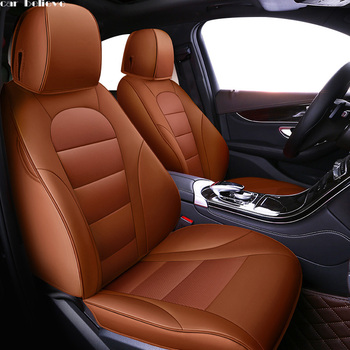 Car Believe Auto Leather car seat cover For bmw e46 e36 e39 accessories e90 x5 e53 f11 e60 f30 x3 e83 covers for vehicle seats image