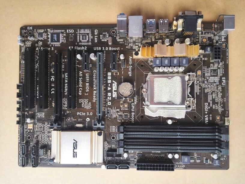 Used,for Asus B85-A R2.0  Motherboard B85 Socket LGA 1150 i7 i5 i3 DDR3 32G SATA3 USB3.0 ATX купить
