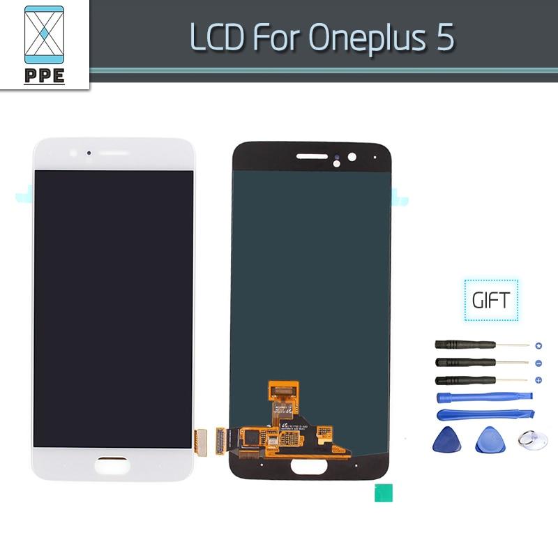Lcd Écran Pour Oneplus 5 A5000 Lcd Cadre de L'écran Tactile Screen Panel Digitizer Assemblée Pièces De Rechange 5.5