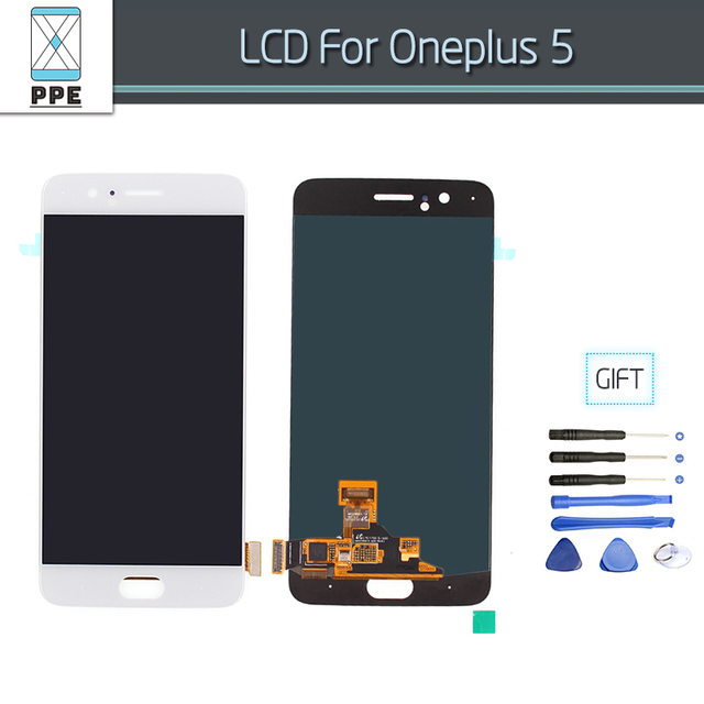 "Lcd Screen For Oneplus 5 A5000 Lcd Display Frame Touch Screen Digitizer Panel Assembly Repair Parts 5.5"" For One plus Five Glass"
