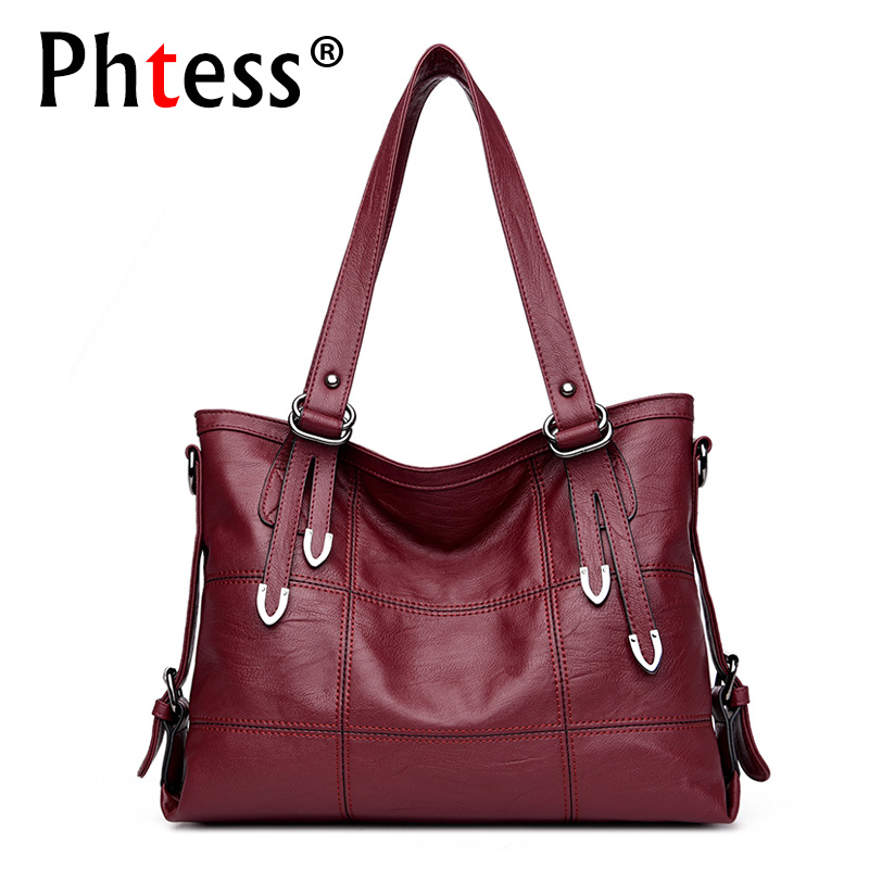 2018 Women Soft Leather Handbags Crossbody Luxury Brand Big Tote Bags For Women Ladies Top-Handle Bags Sac a Main Shoulder Bags kzni genuine leather luxury handbags women bags designer top handle bags for women 2017 purses and handbags sac a main 1416