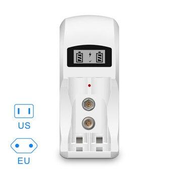 US/EU Batterijlader 2 Slots Mh Batterij Oplader Voor AA AAA 9V 6F22 Batterij Met Lcd-scherm GDeals