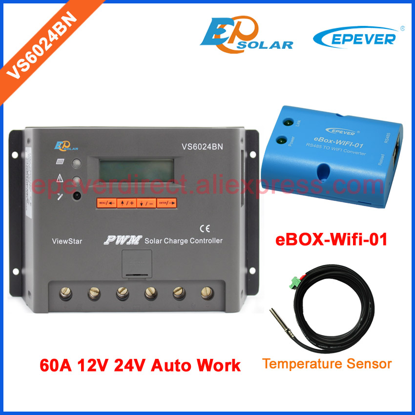 excellent qualiy controller for solar panels system EPEVER brand VS6024BN PWM system wifi BOX and tempperature sensor 60Aexcellent qualiy controller for solar panels system EPEVER brand VS6024BN PWM system wifi BOX and tempperature sensor 60A