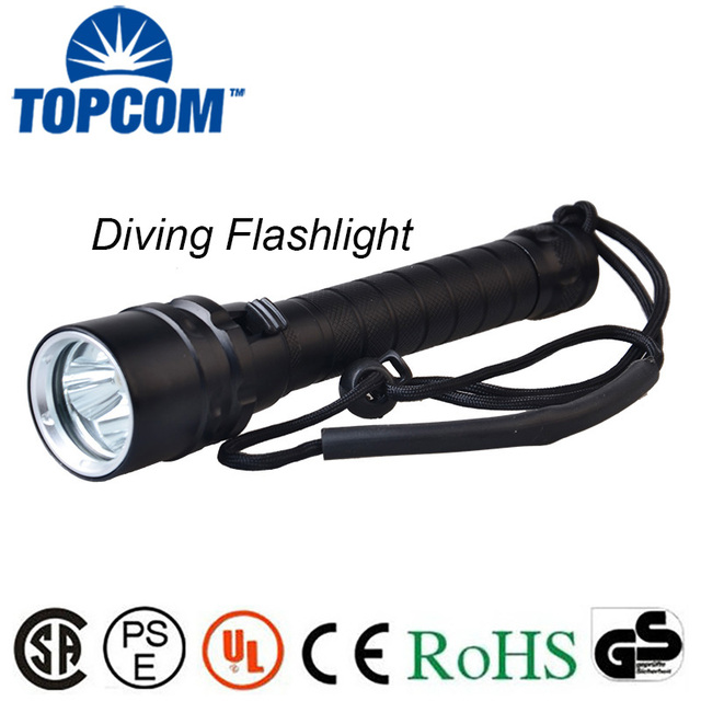 [Free ship]Diver Lamp 100M Underwater 6000LM 3x XM-L T6 LED Scuba Diving Flashlight Torch Waterproof LED Flash Light Lantern