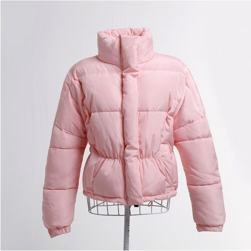 ФОТО Winter Women Jacket 2017 New Korean Cool Fashion Short Cotton-padded Zippered Jacket Female loose Outerwear H306