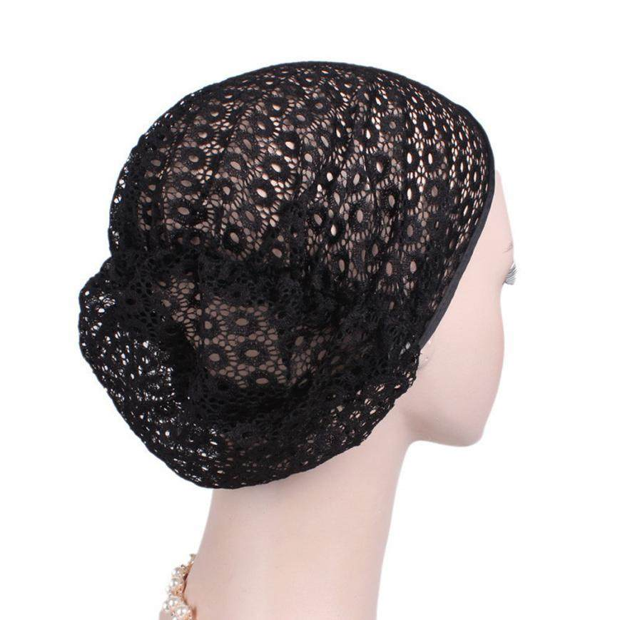 f781f2b94ba summer winter Women Cancer Chemo Hat Beanie Scarf Turban lace Head Wrap Cap  Headdresses for women