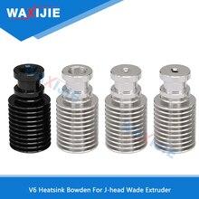 5PCS/LOT Heatsink Remote Short Distance Aluminum Alloy Bowden For V6 J-head Wade Extruder 1.75mm 3.0mm Filament 3D Printer Parts