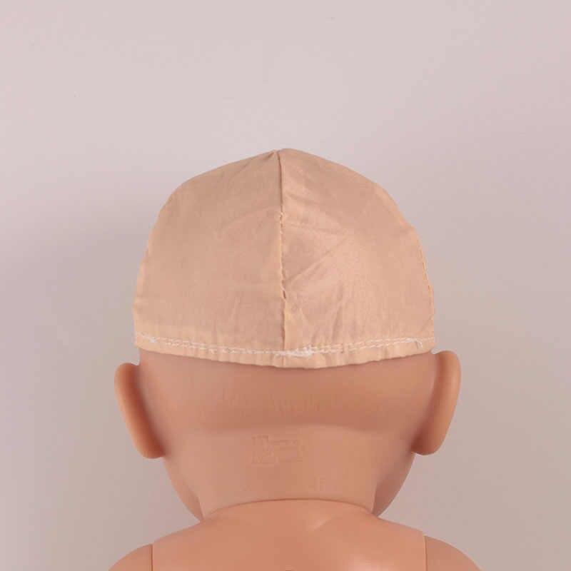 Kaki Zonnehoed pop outfit set voor 17 inch baby poppen kleding voor 43 cm bebe pasgeboren pop accessoire baby meisje geschenken