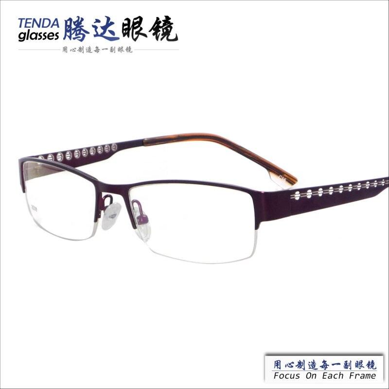 5ff2fe3d98950 Metallo half-senza orlo vetri ottici di moda occhiali oculos de grau per  gli uomini
