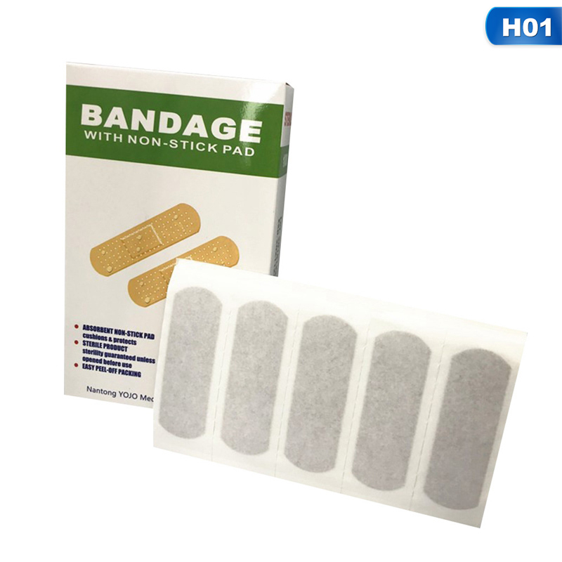 Band-Aids Waterproof Breathable Cushion Adhesive Plaster Wound Hemostasis Sticker Band First Aid Bandage Medical 100Pcs/lot