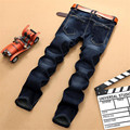New Arrival Jeans Men Straight StretchDenim Jeans Famous Brand High Quality Regular Plus Size Dark Blue Jeans 28-40