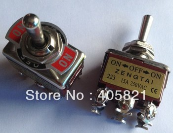 momentary toggle switch (on)-off-(on),6 screws, reset switch KN-223