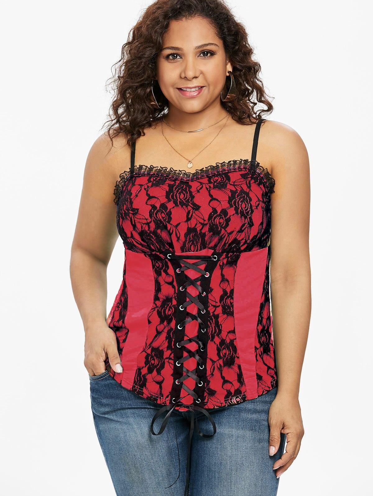 beb5f700214 PlusMiss Plus Size 5XL Sexy Cold Shoulder Sequin Trim T-Shirt Women ...