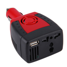 New 150W Red Car Auto Inverter Power Supply 12V DC to 220V AC Laptop Computer